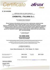 Certificato SA8000